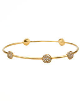 Ippolita Stardust 18k Gold Five-Flower Diamond Bangle