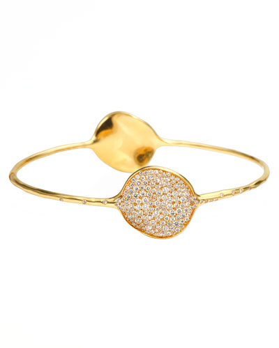 Ippolita Stardust Large Two-Flower Gold Diamond Bangle