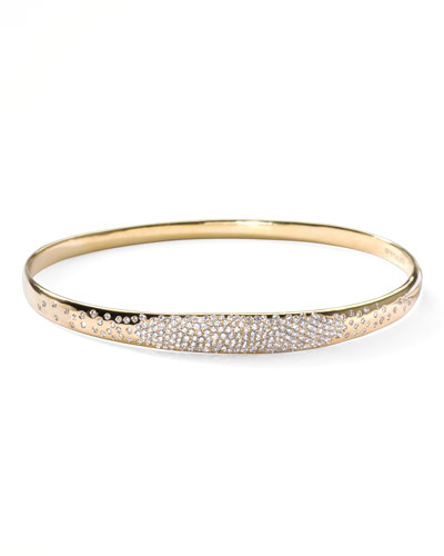 Ippolita Stardust Wide Pave Diamond Gold Bangle