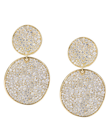 Stardust 18k Gold Diamond Clip Snowman Earrings