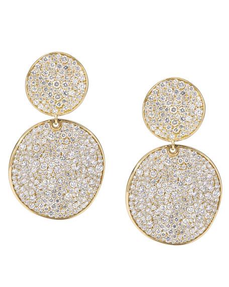 Stardust 18k Gold Diamond Clip Snowman Earrings