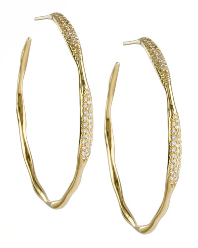 Ippolita Stardust #3 Diamond Hoop Earrings