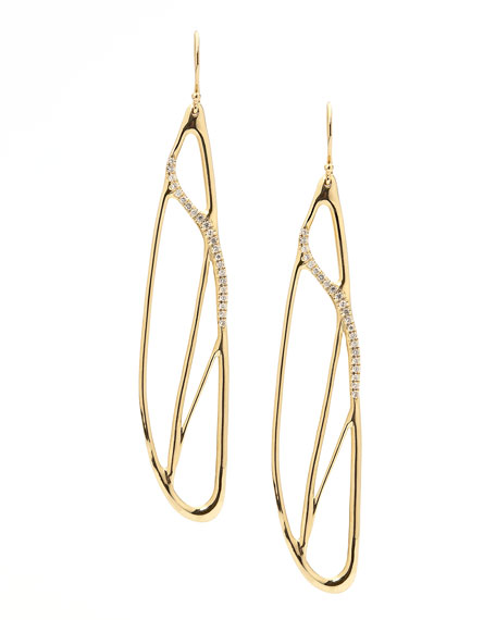 Drizzle 18k Gold Pave Diamond Drop Earrings