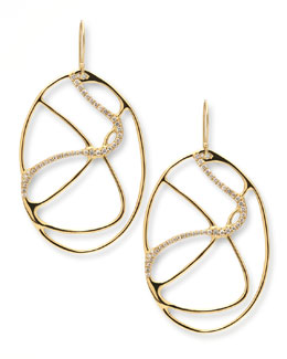 Ippolita Drizzle 18k Gold Oval Diamond Drop Earrings