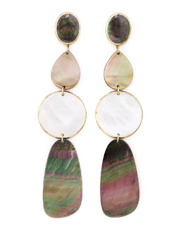 Ippolita Ondine Four-Drop Shell Earrings