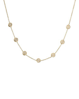 Ippolita Stardust Frontal Pave-Station Necklace