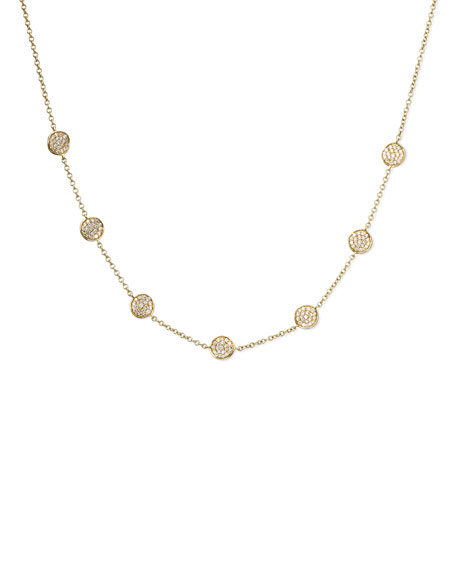 Stardust Frontal Pave-Station Necklace