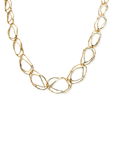 Drizzle 18k Gold Diamond Pave Multi-Link Necklace