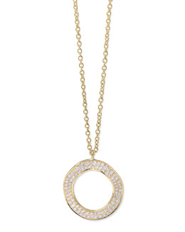 Ippolita Stardust 18k Gold Diamond Open Circle Pendant Necklace