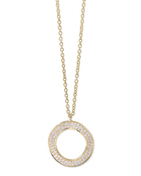 Ippolita stardust 18k gold diamond open circle pendant necklace stardust 18k gold diamond open circle pendant necklace aloadofball Image collections