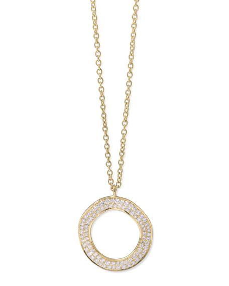 Ippolita Stardust 18k Diamond Disc Pendant Necklace H5pDvf482