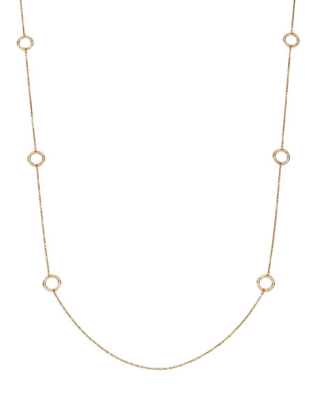 "Stardust By-the-Yard Pave-Ring Necklace, 50""L"