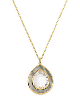 Ippolita Ondine Medium Teardrop Gold Pendant Necklace