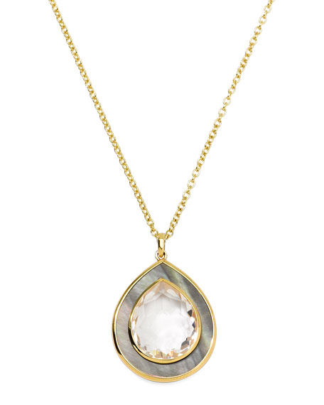 Ondine Medium Teardrop Gold Pendant Necklace