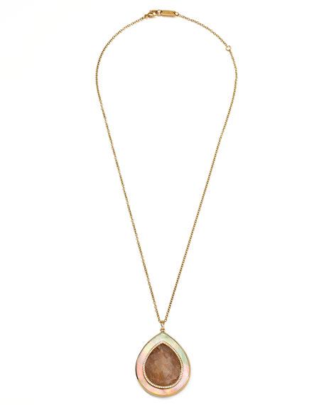 Ondine Quartz Teardrop Pendant Necklace