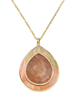 Ippolita Ondine Quartz Teardrop Pendant Necklace