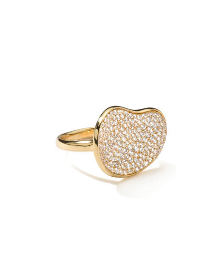 Stardust Gold Diamond Bean Ring
