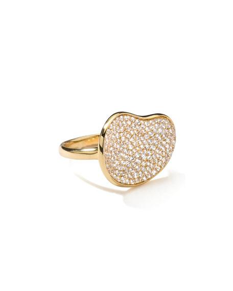 Marco Dal Maso Maki 18K Gold Skull Ring with Champagne Diamonds, Size 10.5