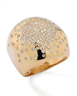Ippolita Stardust Gold Radiating-Diamond Dome Ring