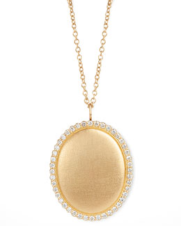 Jamie Wolf Scallop Diamond-Edge Locket 18k Gold Necklace