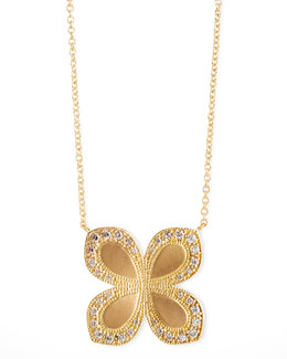 Jamie Wolf Flower-Pendant Diamond 18k Gold Necklace