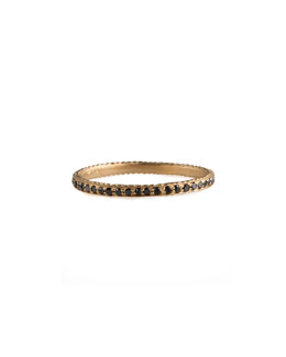 Jamie Wolf Thin Pave Black Diamond Band Ring