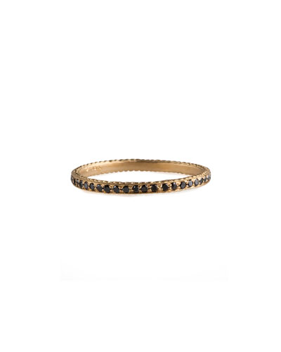 Thin Pave Black Diamond Band Ring