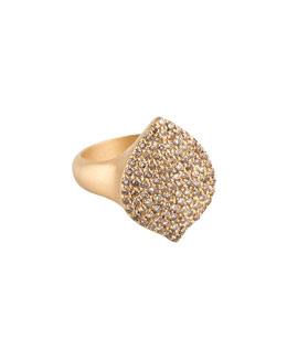 Jamie Wolf Pave Cognac Diamond 18k Gold Acorn Cocktail Ring