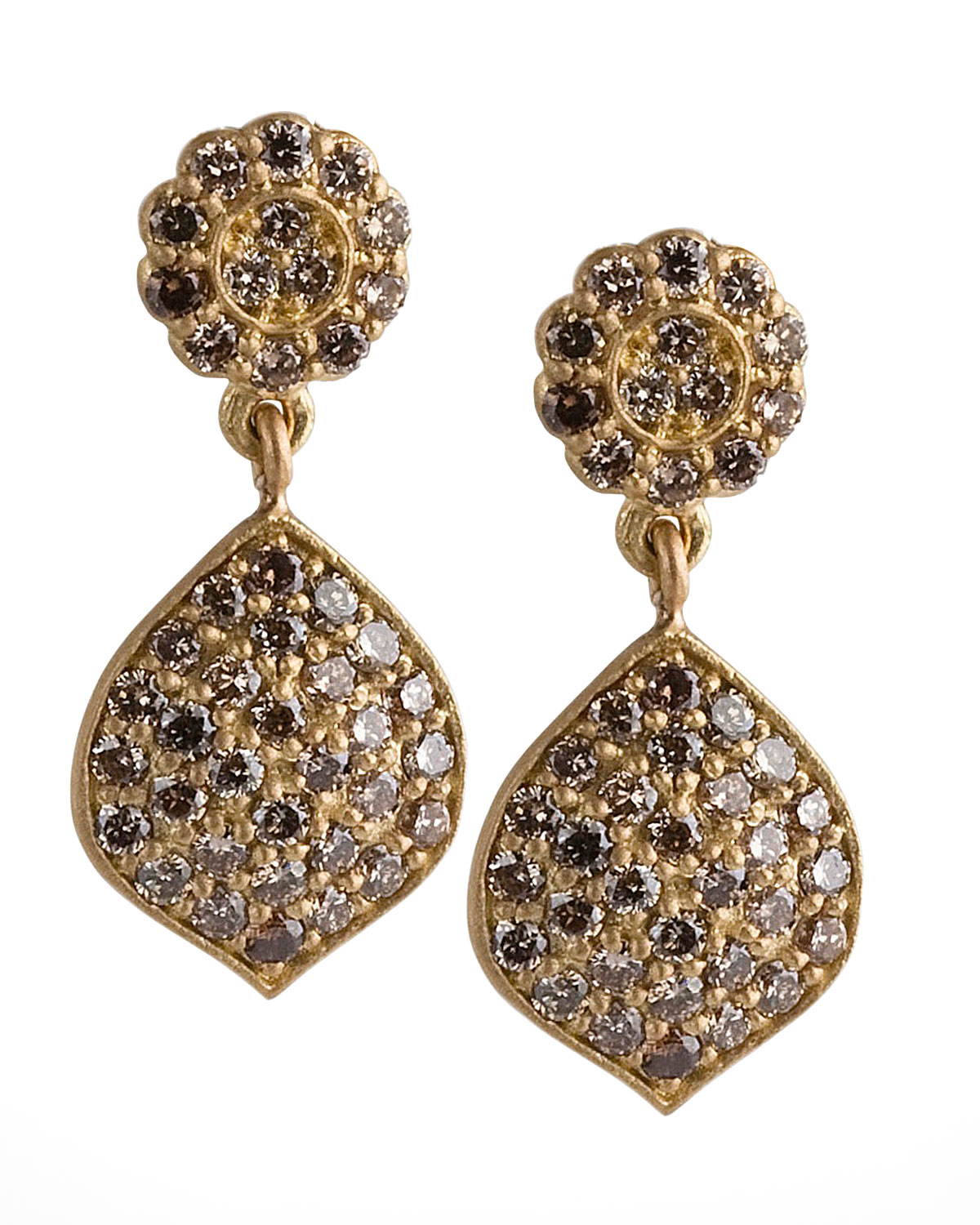 Jamie Wolf Tiny Pavé Acorn Earrings with Diamonds