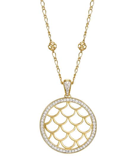 Naga White Sapphire Pendant Necklace
