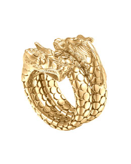 John Hardy Gold Naga Dragon Coil Ring