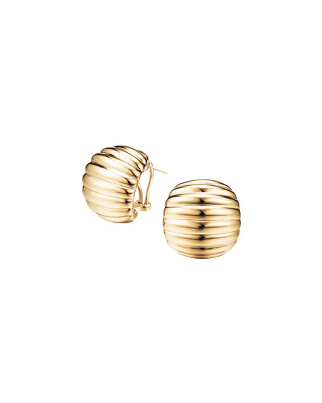 Bedeg Buddha-Belly Earrings, Gold