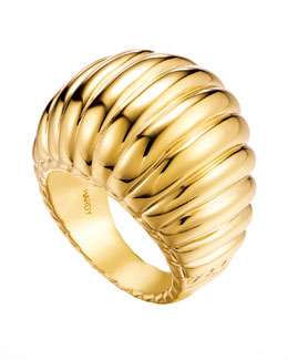 John Hardy Bedeg 18k Gold Dome Ring
