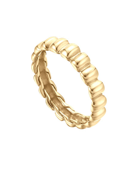 BEDEG GOLD SLIM BAND RING, S