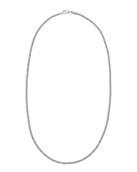 "Classic Rope Chain Necklace, 16""L"