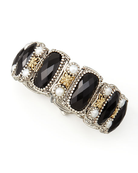 Nykta Black Onyx & Pearl Bracelet