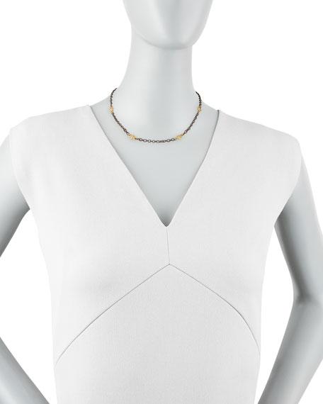 "Black Diamond Cable-Chain Necklace, 16""L"