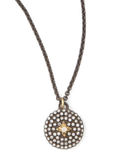 Armenta Pave Diamond Shield Pendant Necklace