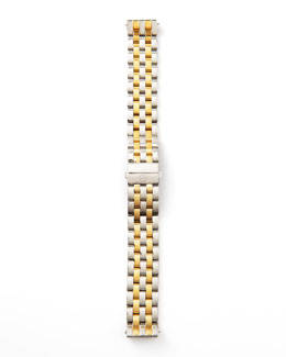 MICHELE 16mm Urban Mini Two-Tone Watch Bracelet, Stainless/Gold