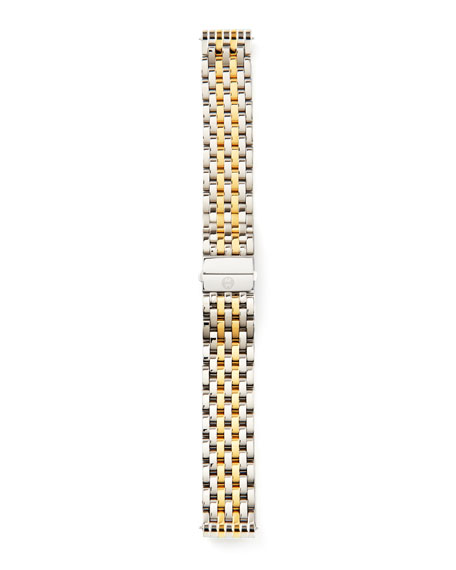 18mm Deco Bracelet Strap, Stainless/Gold