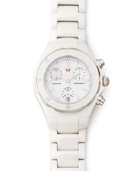 Tahitian Ceramic Chronograph, White