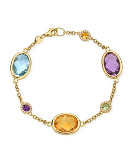 Kiki McDonough Eternal 18k Gold Multi-Stone Bracelet