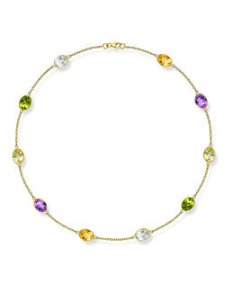 Kiki McDonough Eternal 18k Gold Multi-Stone Necklace