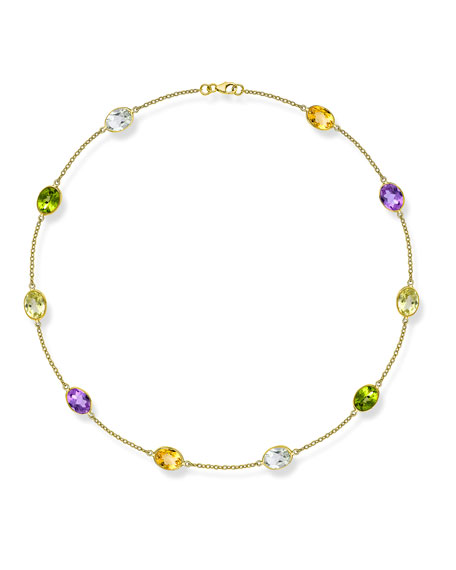 Eternal 18k Gold Multi-Stone Necklace