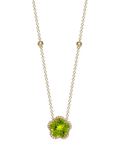 Kiki McDonough Grace Flower Green Peridot & Diamond