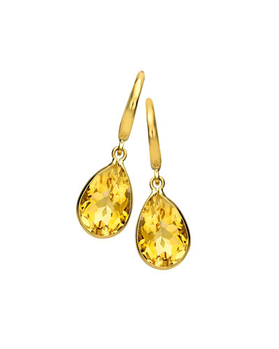 Kiki McDonough Eternal 18k Gold Citrine Pear-Drop Earrings