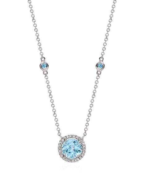 Grace Blue Topaz & Diamond Necklace