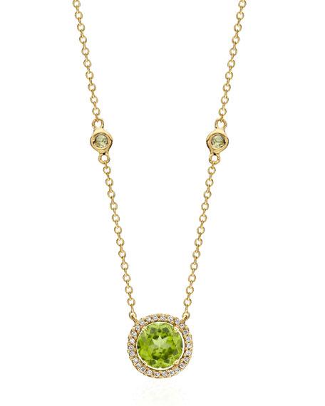 Kiki McDonough Grace Green Peridot & Diamond Necklace