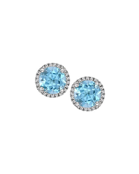 Kiki McDonough Grace 18k Gold Blue Topaz &