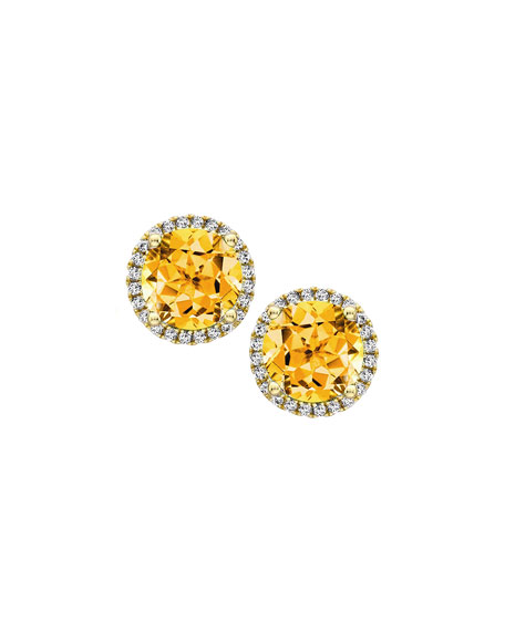 Kiki McDonough Grace 18k Gold Citrine & Diamond